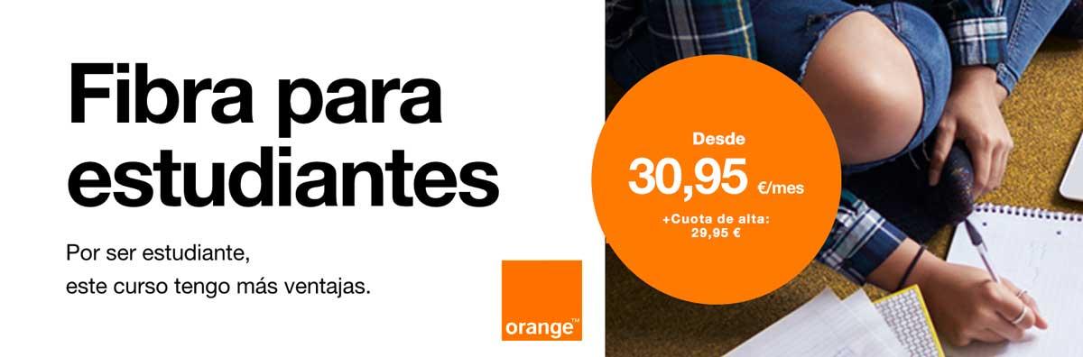 Orange oferta fibra para estudiantes