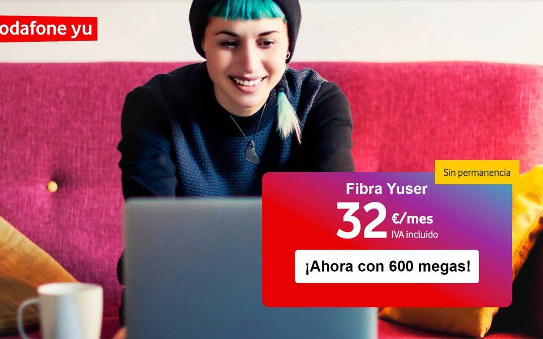 La fibra para estudiantes de Vodafone: 600 megas por 32 euros al mes