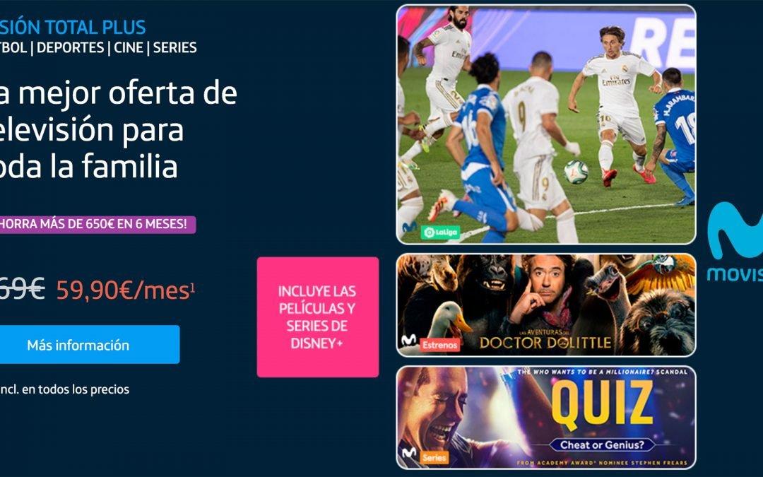 Movistar lanza su mejor oferta: Fusión Total Plus con un 60% de descuento