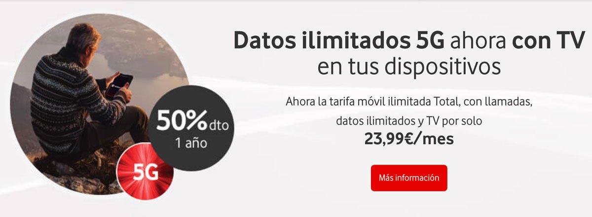 Oferta Vodafone Ilimitada Total descuento