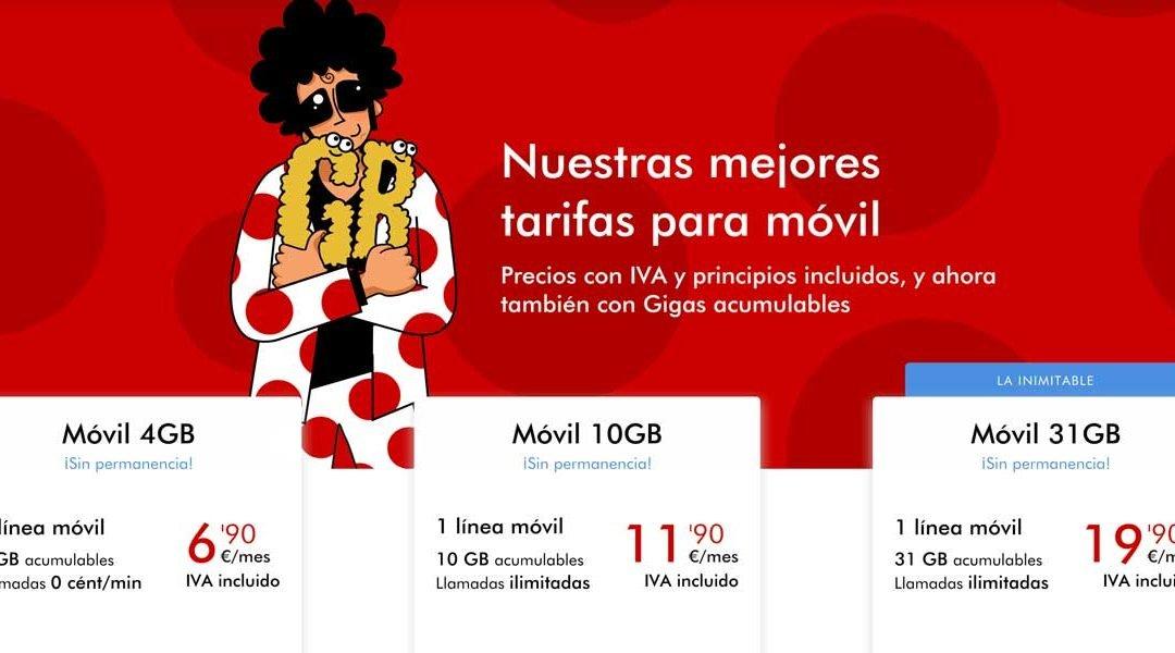 Pepephone mejora también su tarifa con 5 GB: el doble al mismo precio