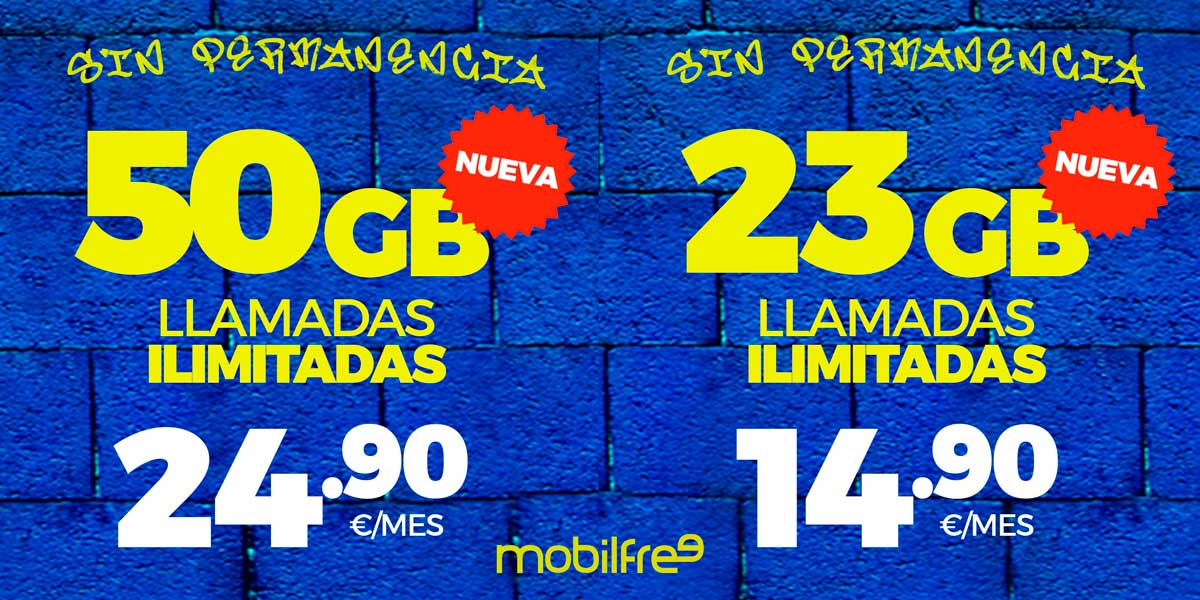 Mobilfree nuevas tarifas, octubre 2020