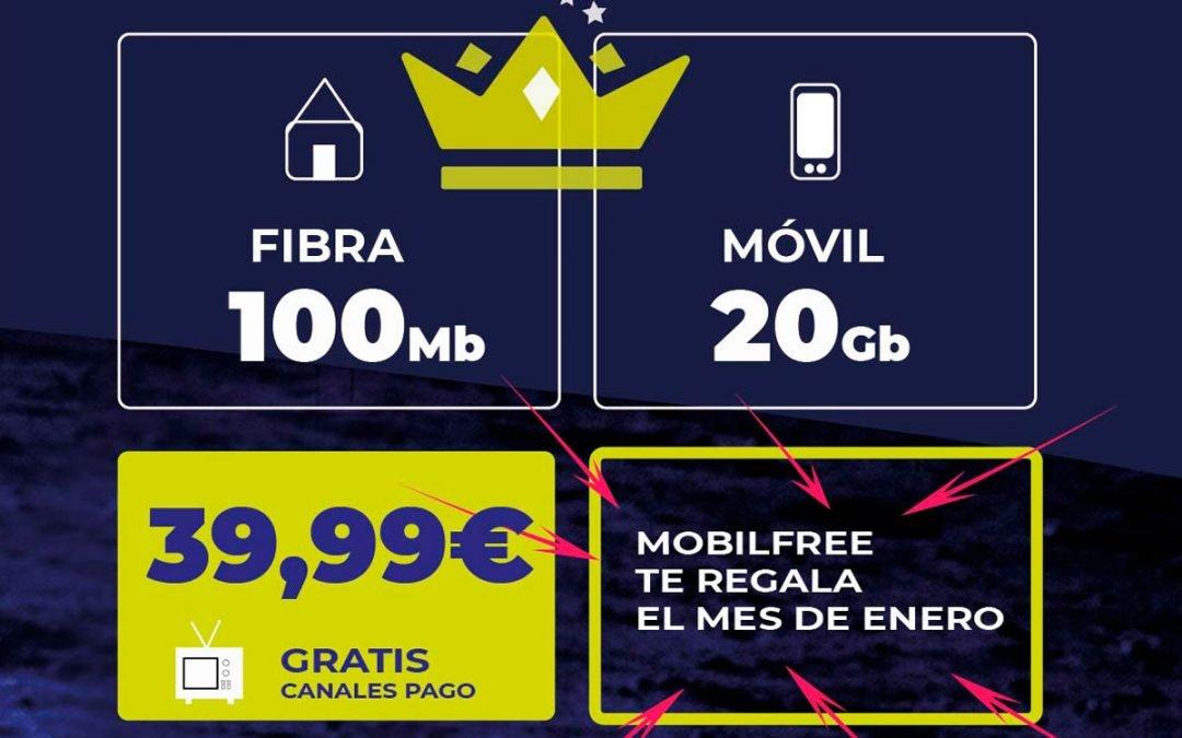 Mobilfree ya tiene promoción de Navidad: un mes de fibra y móvil gratis