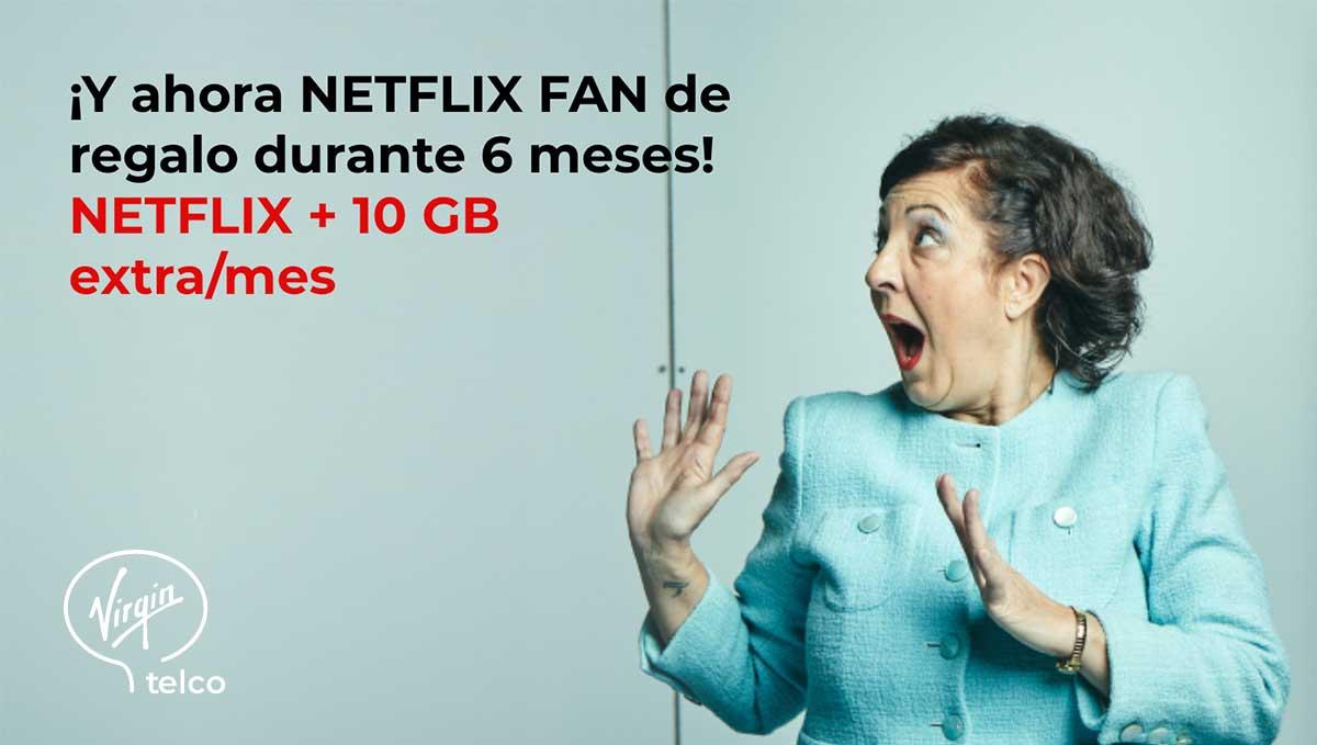Virgin promoción Netflix gratis