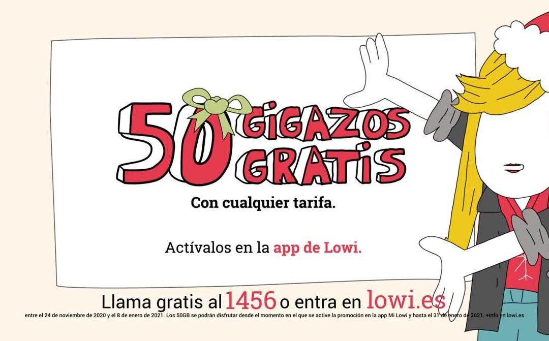 Lowi tiene un regalo de Navidad para sus clientes: 50 GB gratis
