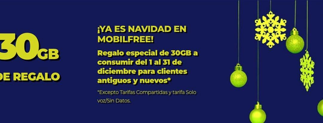 Mobilfree tiene doble promoción de Navidad: 30 GB gratis y nueva tarifa por tiempo limitado