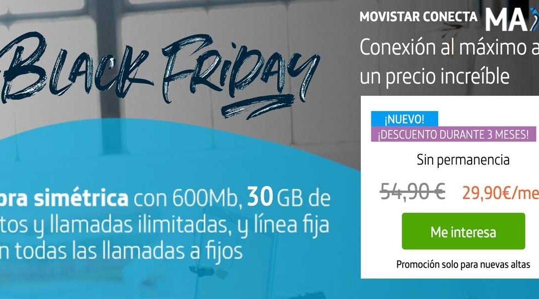 Movistar añade 5 GB más gratis a Conecta Max y rebaja su precio por el Black Friday