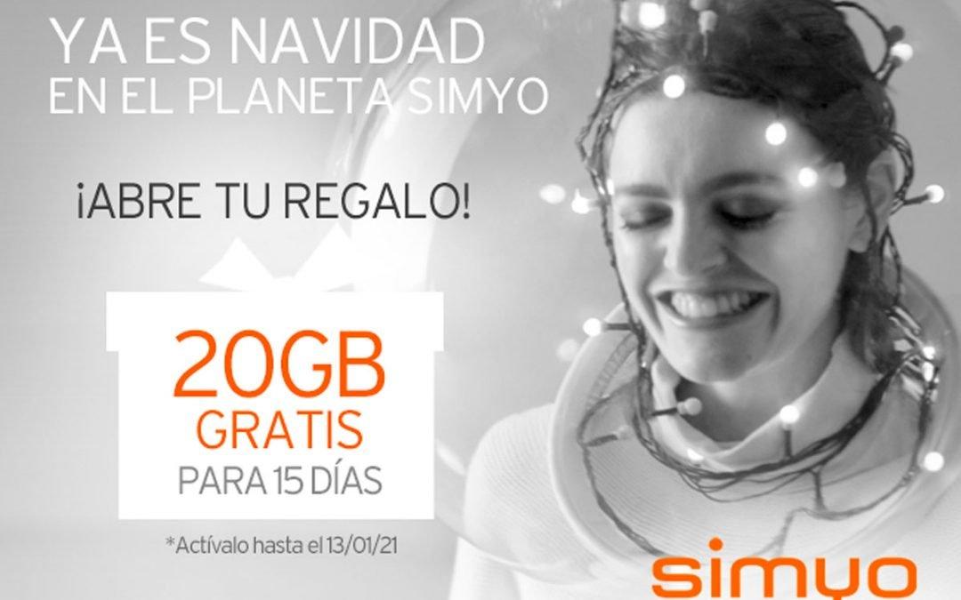 Simyo se suma a la (temprana) Navidad: 20 GB gratis para todos sus clientes