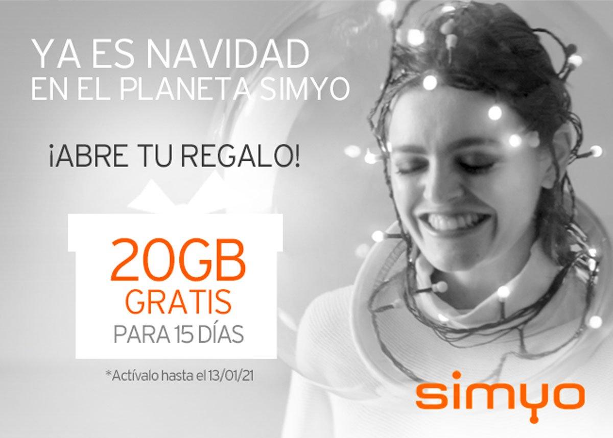 Simyo promo navidad 2020