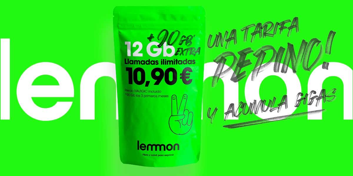 Lemmon tarifas fibra móvil