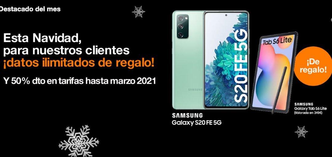 Orange regala datos ilimitados a todos los clientes de tarifas de fibra y móvil por Navidad