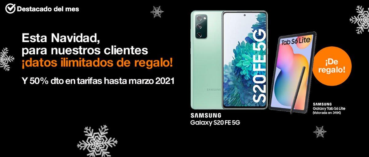 Promo datos ilimitados gratis Orange navidad 2020