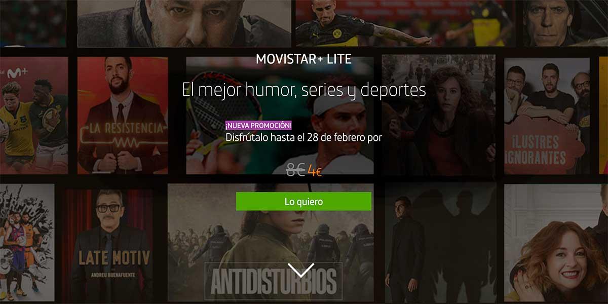Promoción Movistar Plus Lite 4 euros