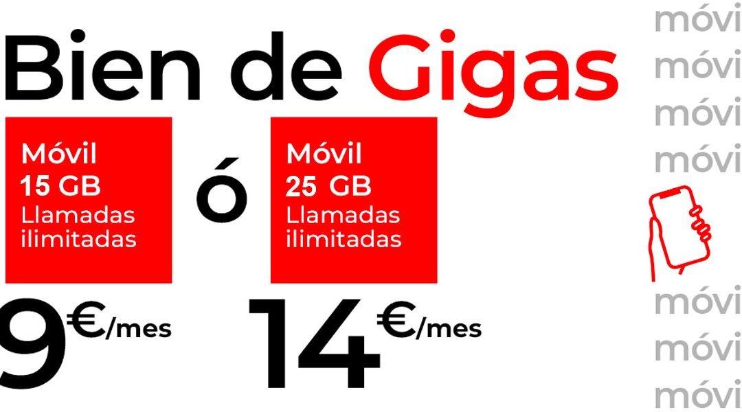 Las tarifas de Virgin subirán hasta los 100 GB gratis el 1 de enero