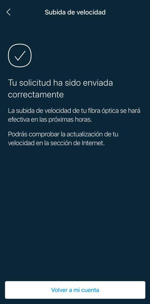 Cómo pedir aumento a 1 Gbps a Movistar, paso 3