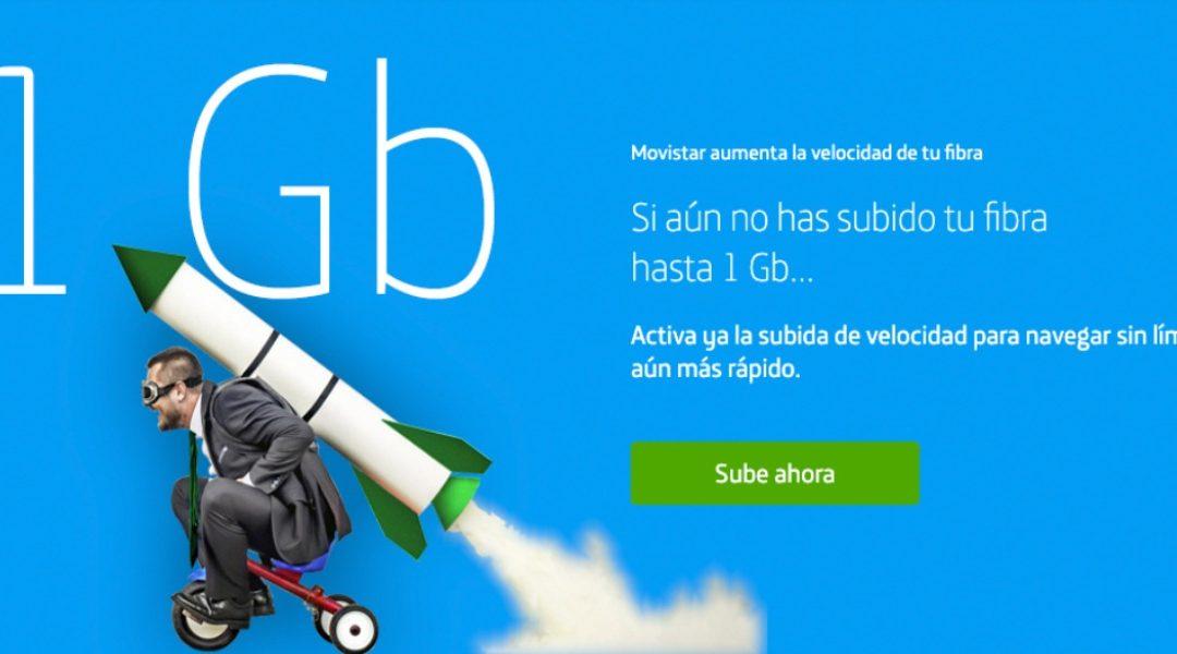 Cómo pedir el aumento de la velocidad a 1 Gbps de la fibra de Movistar