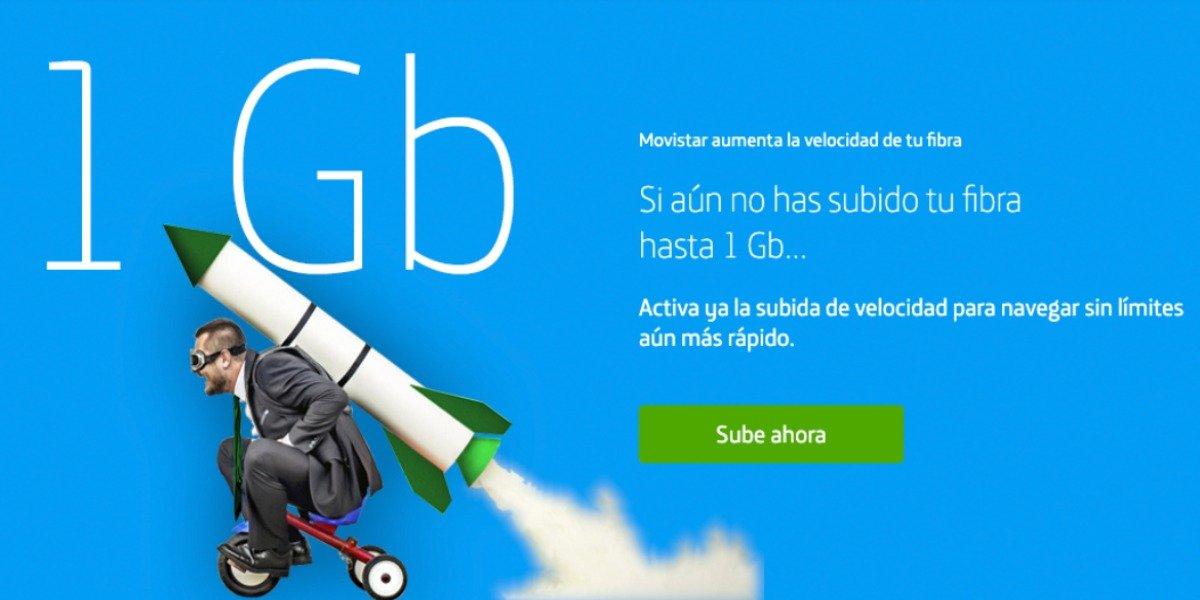 Cómo pedir fibra 1 giga Movistar