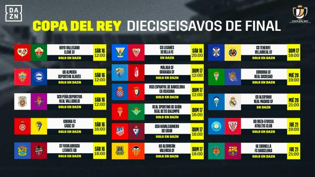 DAZN Copa del Rey dieciseisavos