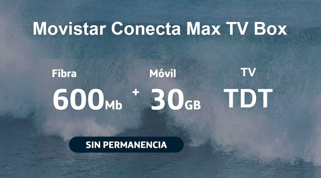 Movistar Conecta Max TV Box: el pack de fibra y móvil barato con escasa TV