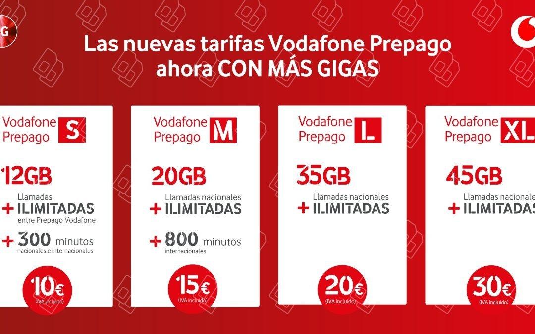 Vodafone quiere dar batalla en el prepago, con nuevas tarifas con hasta 55 GB