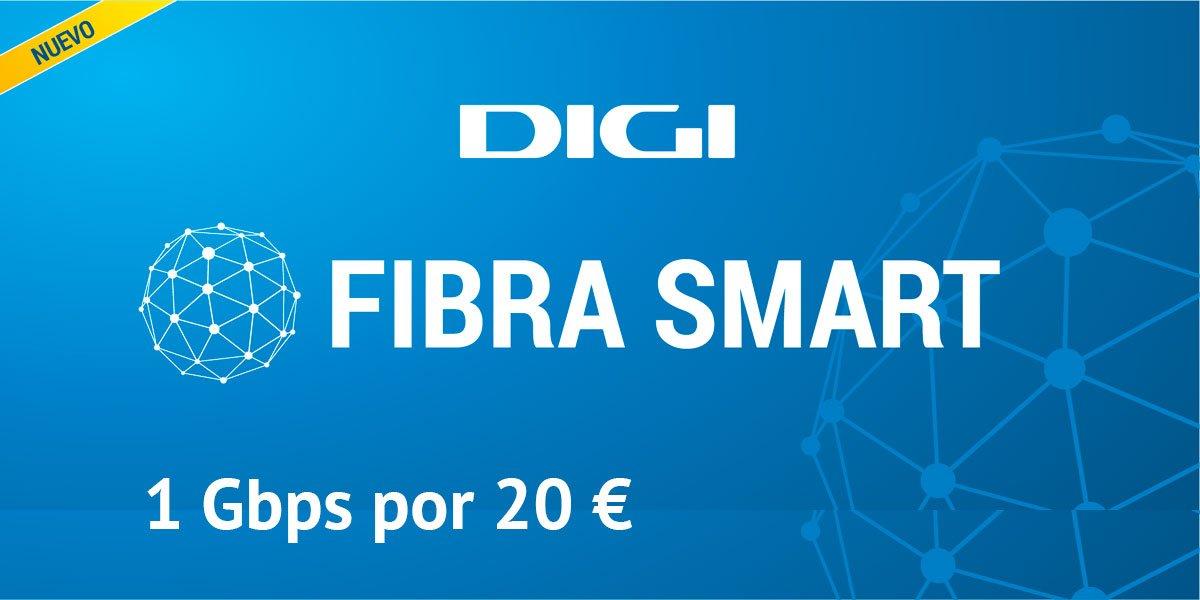 Digi fibra Smart por 20 euros