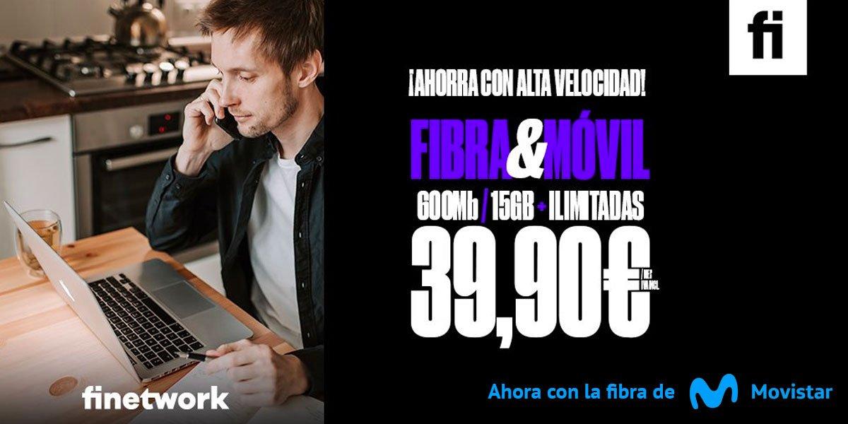 Finetwork cobertura fibra Movistar