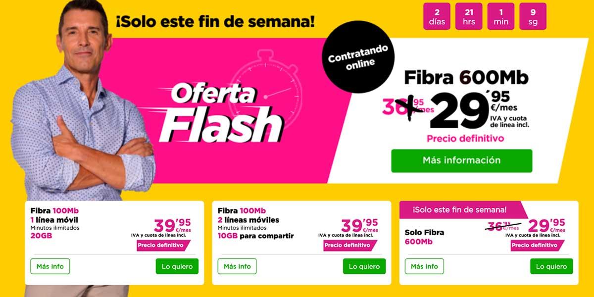Jazztel ofertas flash fibra
