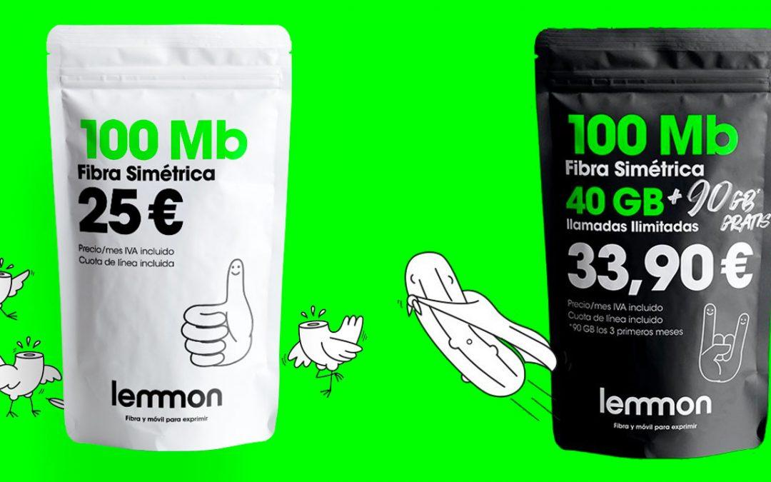 Lemmon baja el precio de su fibra a 100 megas y suma gigas gratis a sus packs