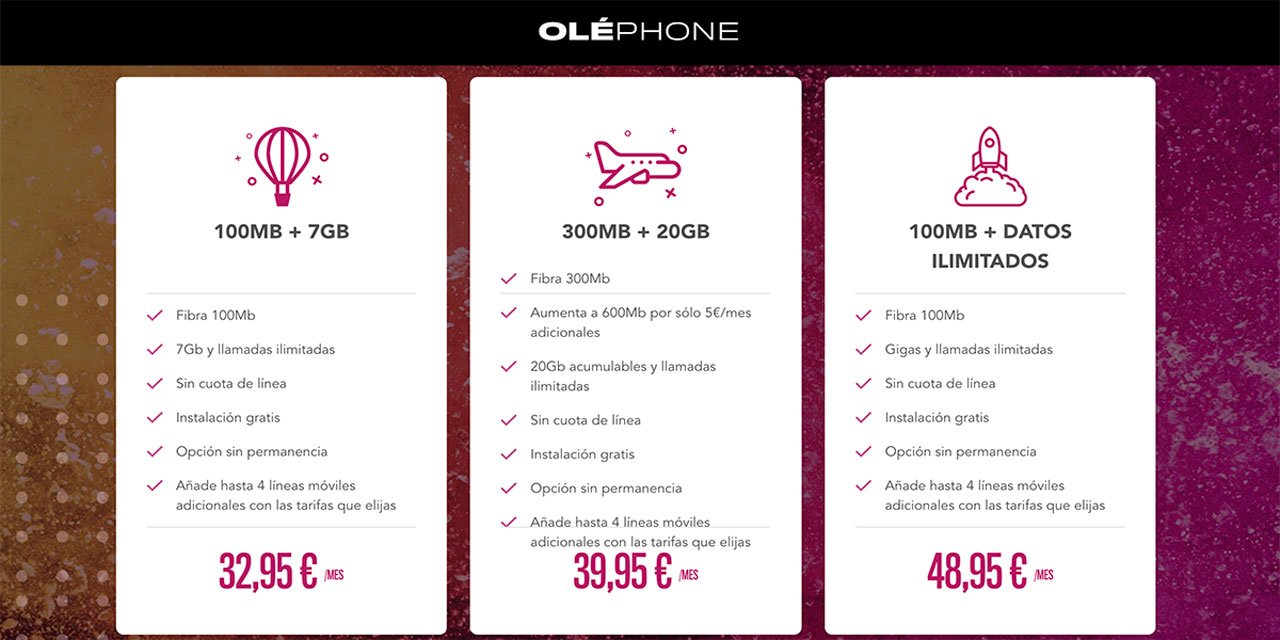 Oléphone nuevos packs abril 2021