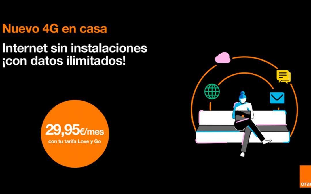 Orange hace ilimitados los gigas de su tarifa de 4G en casa sin subir de precio