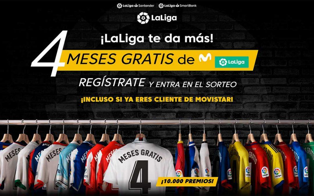 4 meses de Movistar LaLiga gratis: la Liga sortea 10.000 suscripciones por valor de 120 euros