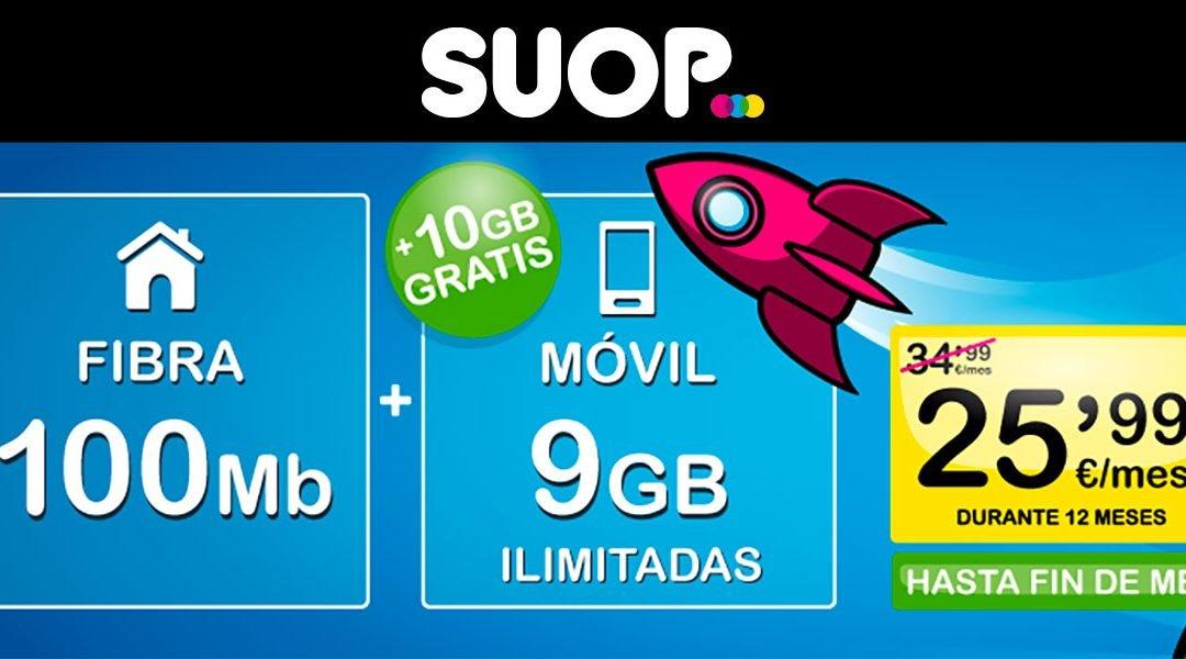 Suop aumenta los datos de sus packs de fibra y móvil: hasta 5 GB más gratis