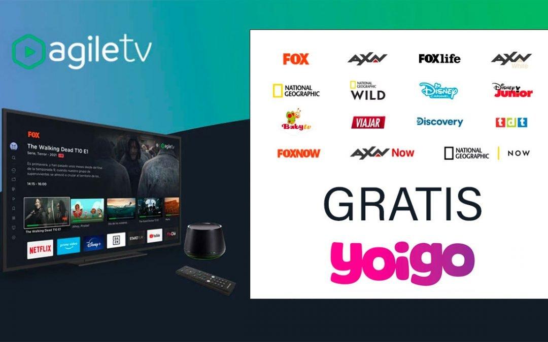 Yoigo ya tiene su pack de canales de TV, que incluye gratis en las tarifas de fibra y móvil con datos ilimitados