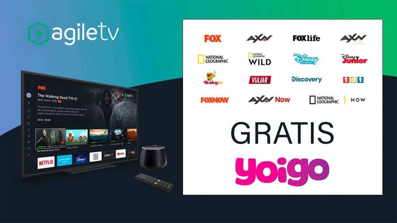 Yoigo Agile TV canales