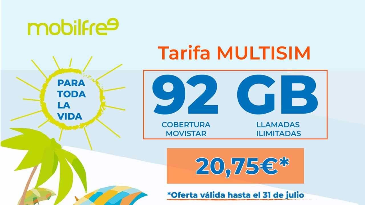Mobilfree 92 GB cobertura Movistar