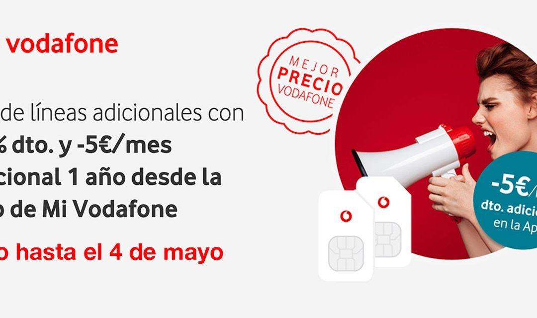 Vodafone premia a sus clientes en última promoción: más descuento en líneas adicionales