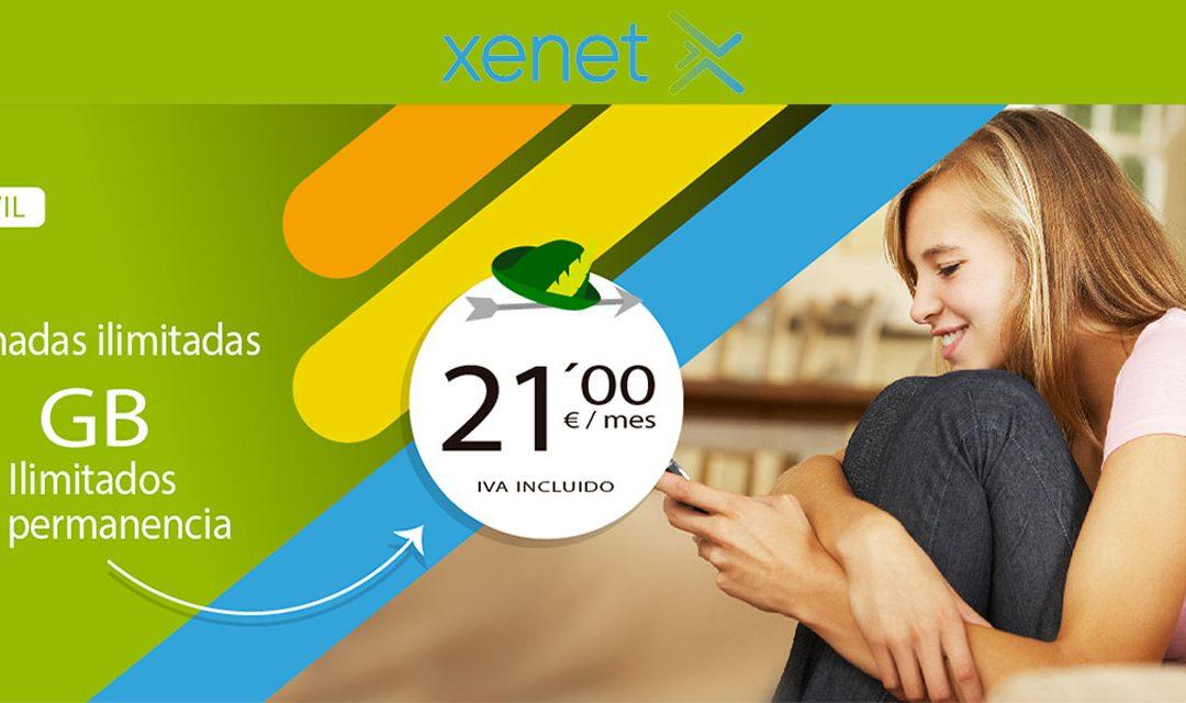 Xenet se hace con la tarifa con datos ilimitados más barata del mercado