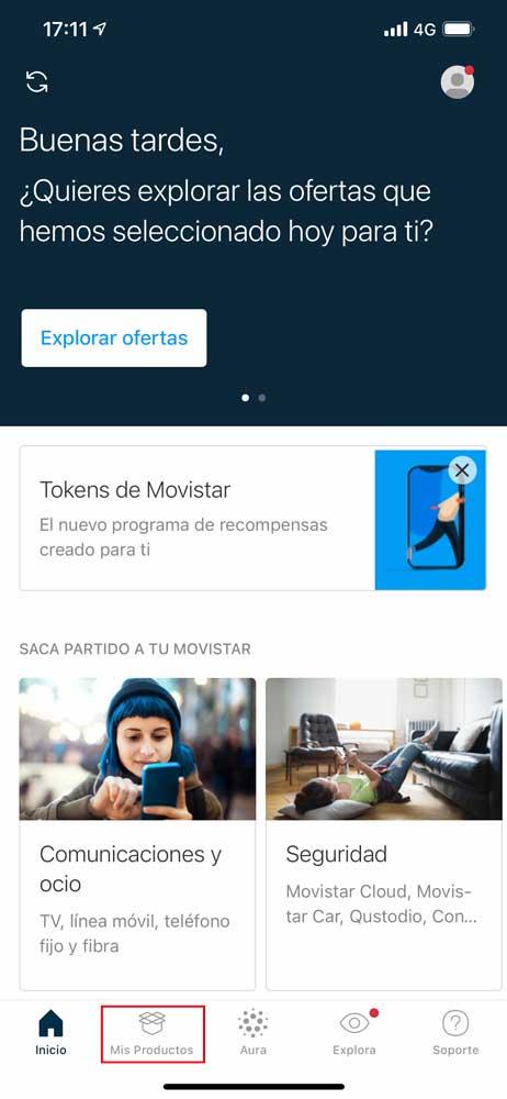 Cómo activar acceso aplicación DAZN Movistar, paso 1