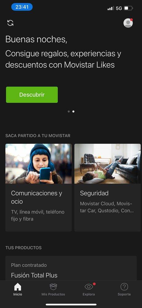 Cómo consultar consumo datos Mi Movistar, paso 1