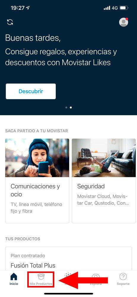Cómo consultar facturas en Mi Movistar, paso 1