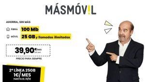 MásMóvil oferta línea adicional 1 euro