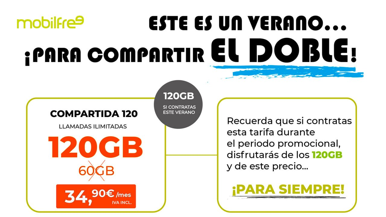 Mobilfree nuevas tarifas hasta 120 GB