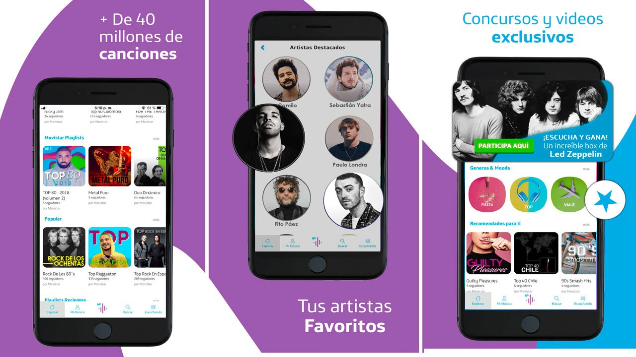 Movistar Música 50 millones de canciones