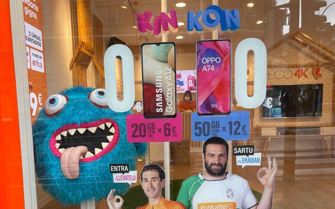 Vuelve Kin Kon a Euskaltel: un smartphone gratis al contratar 20 o 50 GB extras