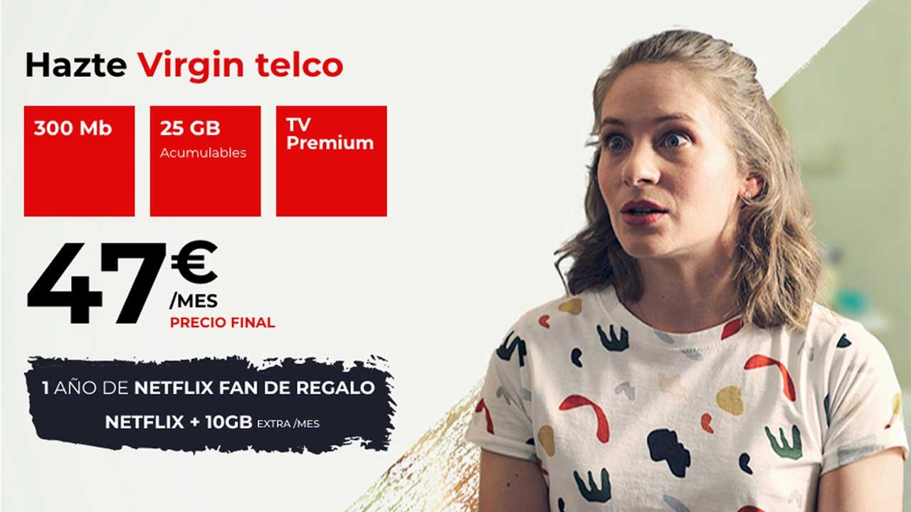 Promoción Virgin Netflix gratis, junio 2021