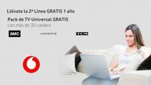 Vodafone segunda línea pack universal gratis