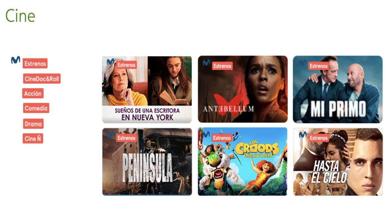 Movistar nuevos canales cine verano 2021