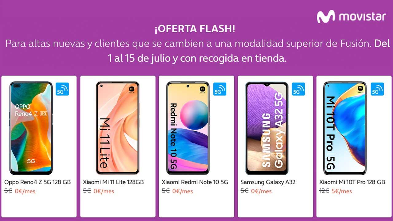 Movistar oferta smartphones, julio 2021