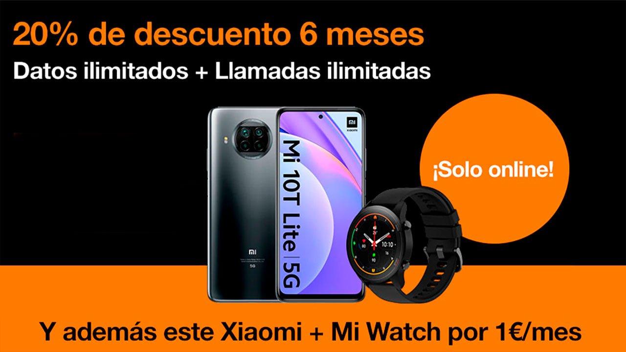 Orange pack smartphone y smartwatch, julio 2021