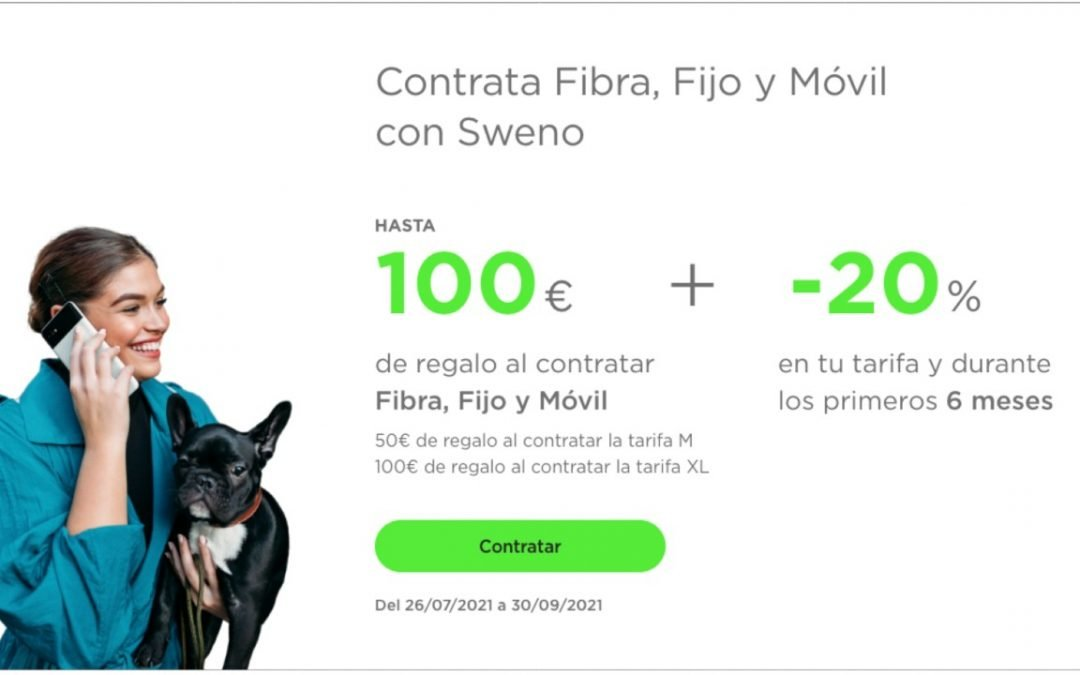 Sweno se estrena con doble promo: 20% durante seis meses y hasta 150 euros de regalo